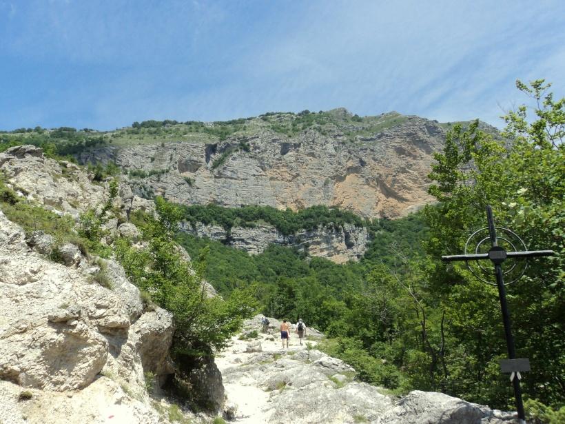 Panoramica dal sentiero che porta al santuario